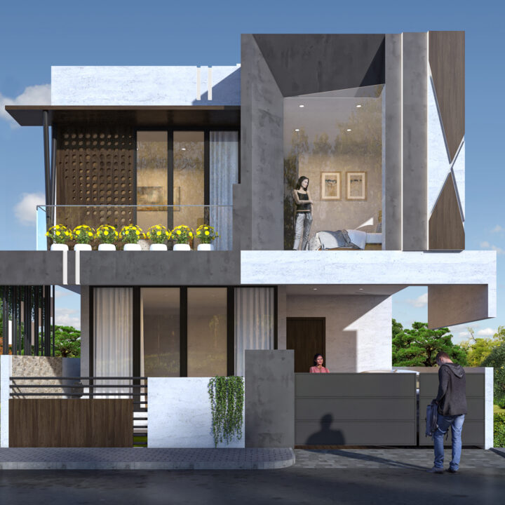 Baglur House Design by Ojasviha
